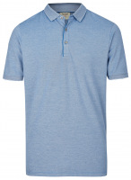 Poloshirt - Level Five Body Fit - Piqué - blau / weiß