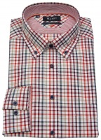 Hemd - Comfort Fit - Button Down Kragen - kariert