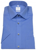 Kurzarmhemd - Luxor Comfort Fit - Chambray - blau