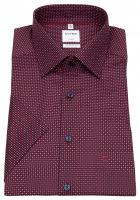 Kurzarmhemd - Comfort Fit - New Kent - rot / dunkelblau