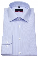 Hemd - Modern Fit - feine Streifen - hellblau / weiß
