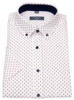 Kurzarmhemd - Modern Fit - Button Down - weiß / rot / blau