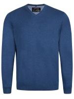 Pullover - V-Ausschnitt - blau