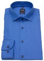 Hemd - Level Five Body Fit - Twill - Streifen - blau