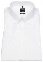 Kurzarmhemd - Luxor Modern Fit - Button-Down-Kragen - weiß