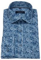 Hemd - Comfort Fit - Print - blau / türkis