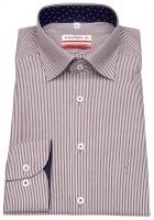 Hemd - Modern Fit - Under Button Down - rot / weiß