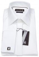 Smokinghemd - Custom Fit - Umschlagmanschette - weiß