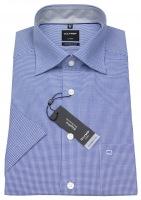 Kurzarmhemd - Luxor Modern Fit - Check - blau / weiß
