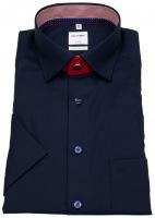 Kurzarmhemd - Comfort Fit - Patch - Under Button Down - blau