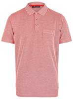 Poloshirt - Regular Fit - Baumwolle - rot meliert