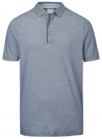Poloshirt - Level Five Body Fit - Piqué - dunkelblau / weiß