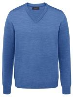 Pullover - Comfort Fit - V-Ausschnitt - azure