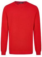 Pullover - Comfort Fit - Rundhals - Struktur - rot