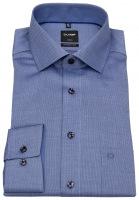 Hemd - Luxor Modern Fit - Faux Uni - blau / weiß