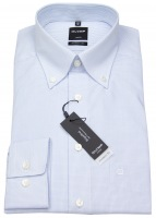 Hemd - Luxor Modern Fit - Button Down - Gitterkaro - hellblau