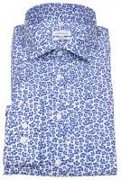 Hemd - Shaped Fit - Print - weiß / blau