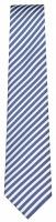 Seidenkrawatte - dunkelblau / weiß gestreift