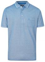 Poloshirt - Casual Fit - Piqué - blau / weiß