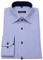 Hemd - Modern Fit - Streifen - blau / weiß - langer Arm 68cm