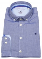 Hemd - Slim Fit - Button Down - Oxford - blau