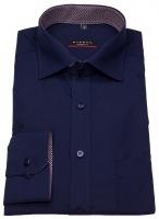 Hemd - Modern Fit - Patch - blau