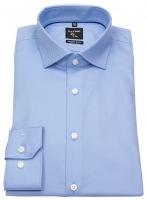 Hemd - No. Six Super Slim Fit - Twill - Streifen - hellblau
