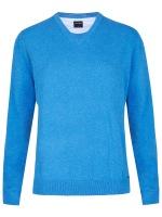 Pullover - V-Ausschnitt - hellblau