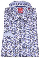 Hemd - Slim Fit - Floraler Print - blau