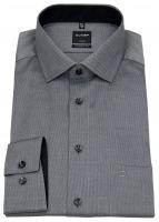 Hemd - Luxor Modern Fit - Faux Uni - schwarz / weiß