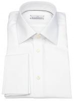 Hemd - Modern Fit - Jamie - Umschlagmanschette - weiß