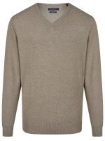 Pullover - V-Ausschnitt - beige