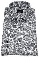 Hemd - Modern Fit - Print - schwarz / weiß