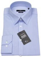 Stretch Hemd - Body Fit - blau