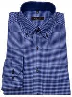 Hemd - Comfort Fit - Button Down - blau / dunkelblau