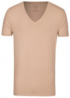 Level Five Body Fit - T-Shirt - tiefer V-Ausschnitt - caramel
