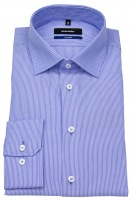 Hemd - Tailored Fit - Streifen - blau / weiß