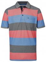 Poloshirt - Casual Fit - Streifen - rot
