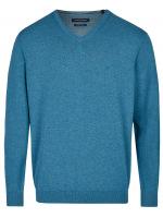 Pullover - V-Ausschnitt - petrol
