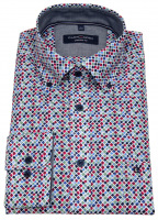Hemd - Comfort Fit - Button Down Kragen - mehrfarbig