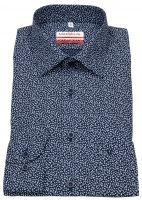 Hemd - Modern Fit - Print - dunkelblau / weiß