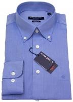 Hemd - Modern Fit - Button-Down Kragen - blau
