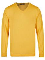Pullover - Modern Fit - V-Ausschnitt - gelb