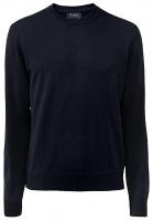 Pullover - Comfort Fit - Rundhals - Merinowolle - navy