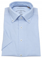 Kurzarmhemd - Modern Fit - We Care Shirt - hellblau