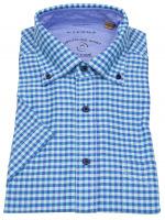 Kurzarmhemd - Regular Fit - Button Down - We Care - kariert