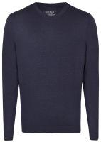 Pullover - Merinowolle - Rundhals Ausschnitt - dunkelblau