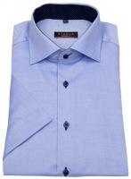 Kurzarmhemd - Modern Fit - Oxford - Kontrastknöpfe - hellblau
