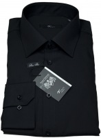 Hemd - Kentkragen - Modern Fit - schwarz