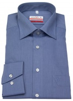 Hemd - Modern Fit - Chambray - blaugrau
